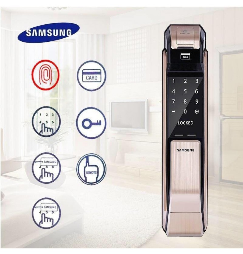 SHS P718 Gold Push Pull Digital Door LOCK